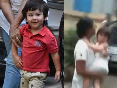 Vid: Taimur Ali Khan gets cradled by his nanny