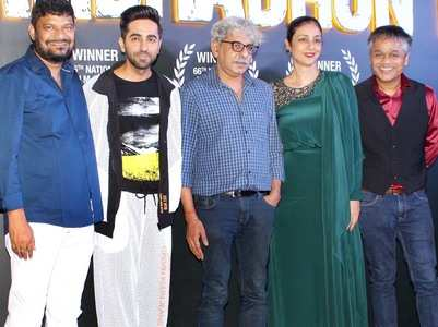 'Andhadhun' team celebrate National Award win