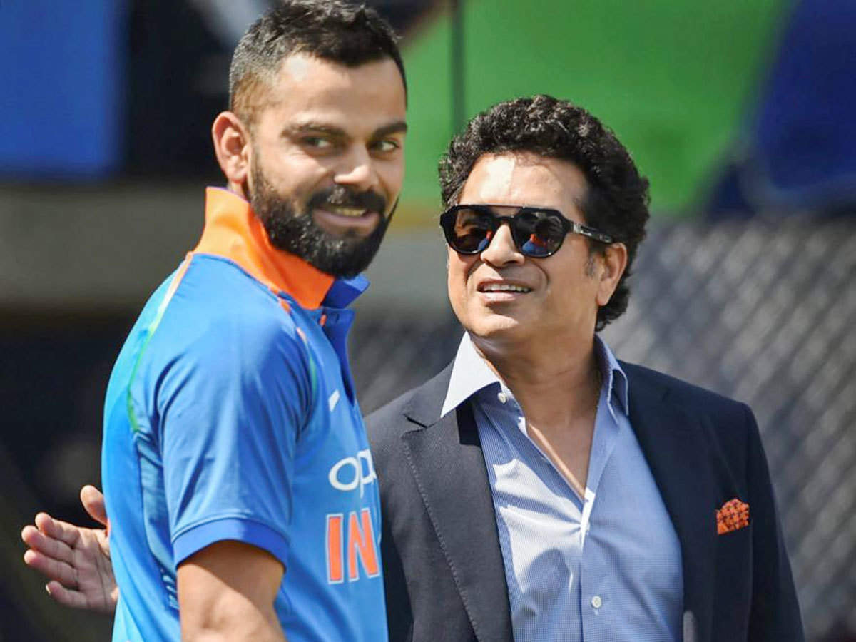 Virat Kohli and Sachin Tendulkar. (PTI Photo)