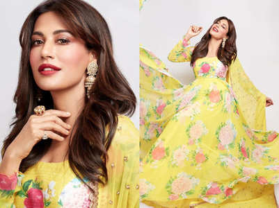 Chitrangda Singh's yellow floral anarkali is the perfect ethnic dress for this season
