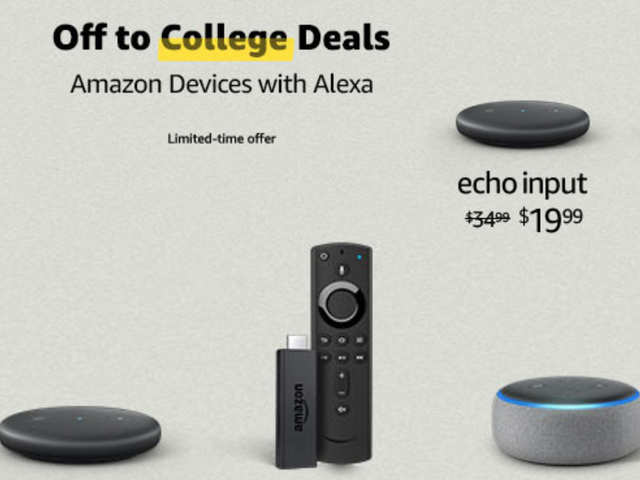 Amazon off to college deals: Discounts on Amazon Echo Dot, FireTV Stick and more