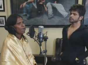 Himesh records a song with Ranu Mondal