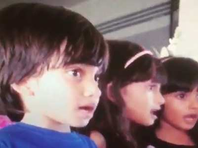 Farah's kids lip-sync on 'Manwa Laage' song