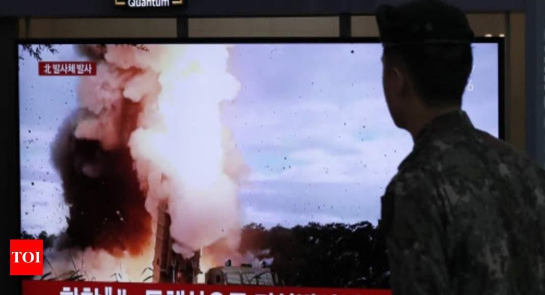 North Korea fires 'short-range ballistic missiles' into sea: Seoul