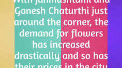 Increased demand due to the festive season a steep price rise of flowers in Bareilly