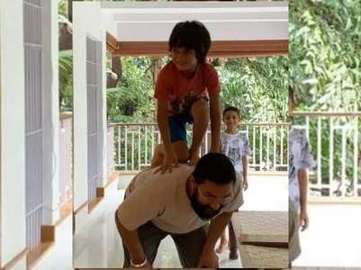 Watch: Aamir celebrates dahi handi with son
