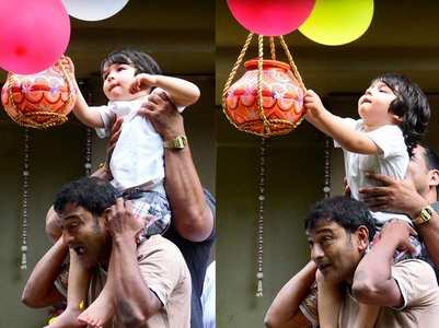 Video: Taimur and Inaaya celebrate Dahi Handi