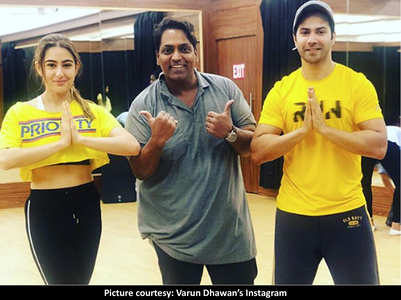 Coolie No 1: Sara-Varun rehearse for a dance