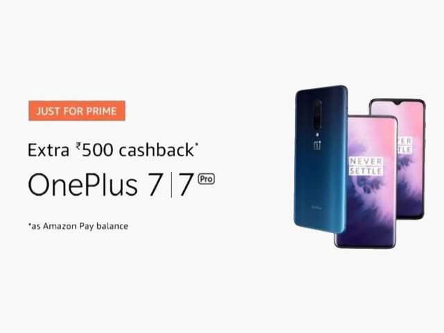 Amazon offers limited-time cashback to Prime members on OnePlus 7, OnePlus 7 Pro smartphones