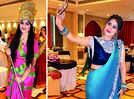 A Teej theme party in Banaras