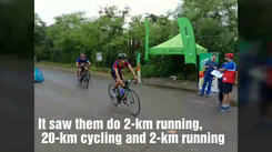 Mumbaikars show their sporty side in a duathlon