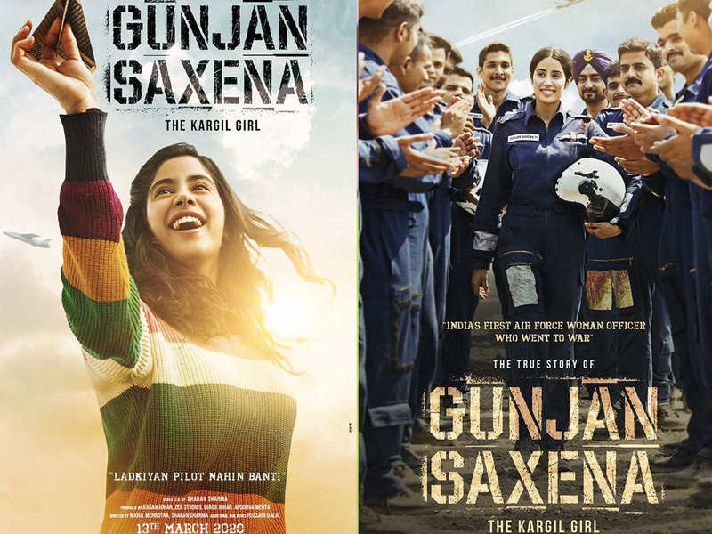 Gunjan Saxena The Kargil Girl Janhvi Kapoor S First Look Posters Impress Fans And Bollywood Stars Hindi Movie News Times Of India