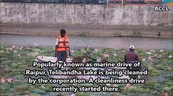 Cleanliness drive kick-starts in Telibandha Lake