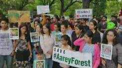Mumbaikars protest against cutting of 2,702 trees in Aarey