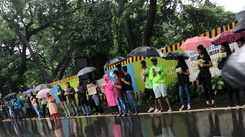 Mumbaikars make a human chain to protest cutting of 2,702 trees in Aarey