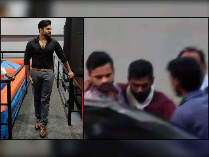 Sai Dharam Tej helps music director Achu Rajamani during accident