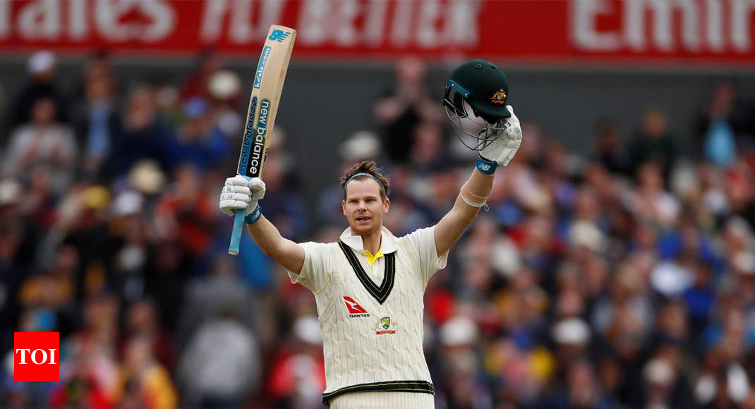 England vs Australia, 4th Ashes Test: Steve Smith scores double century in Manchester - Times of India thumbnail
