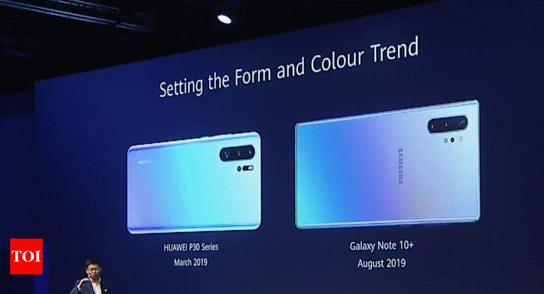 Huawei makes fun of Samsung Galaxy Note 10+ for 'copying
