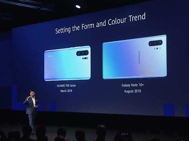 Huawei makes fun of Samsung Galaxy Note 10+ for 'copying' old P30 smartphone's look
