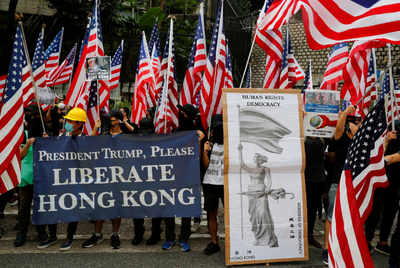 Hong Kong protesters urge Trump to 'liberate' their city