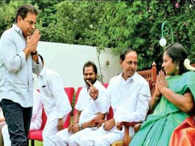 K Chandrasekhar Rao brings back son KT Rama Rao and T Harish