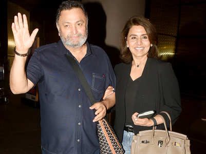 PICS: Rishi-Neetu Kapoor are back in Mumbai