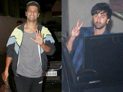 Pics: Ranbir, Vicky spotted at KJo's office