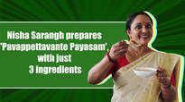 Uppum Mulakum's Nisha Sarangh prepares a special Payasam for Onam
