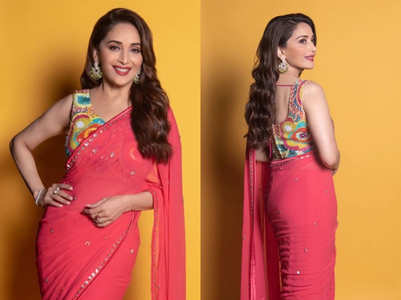 Madhuri Dixit's multi-coloured blouse is a must-have in every girl's wardrobe