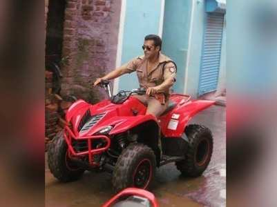 Don't miss! Salman snapped riding an ATV bike
