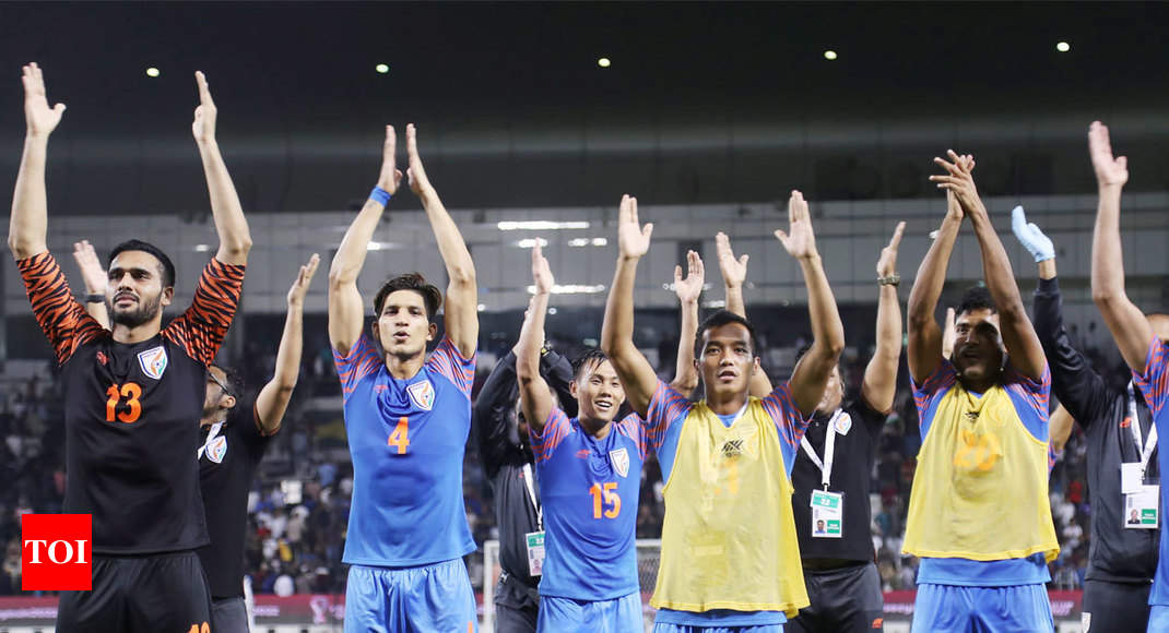Brave India hold Asian Champions Qatar to goal-less draw in World Cup qualifiers