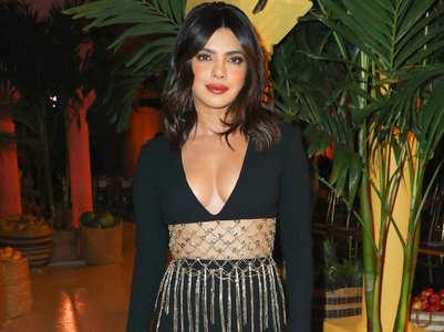 Priyanka Chopra rocks a sexy black dress with a modern take on kamarbandh at NYFW
