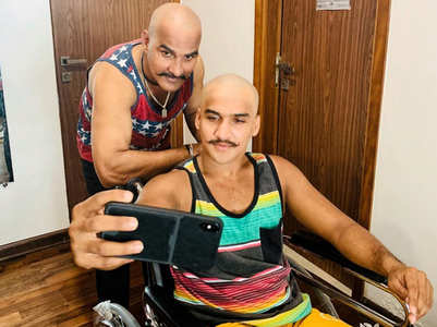 Faisal Khan's father goes bald like son