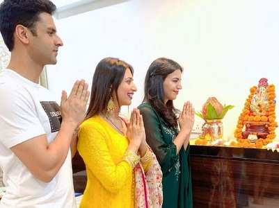 Divyanka's Ganpati festival at in-laws' home