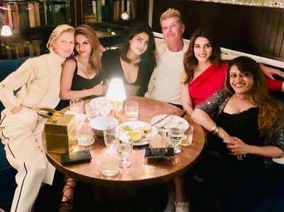 Kriti bonds with Priyanka in New York City!
