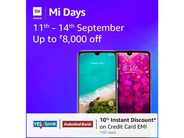 Mi Days on Amazon: Discount of up to Rs 8,000 on Xiaomi Mi A3, Redmi 7, Redmi Y3 and other devices