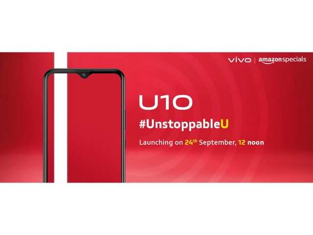 Vivo U10 with 18W fast charing support to launch in India on September 24