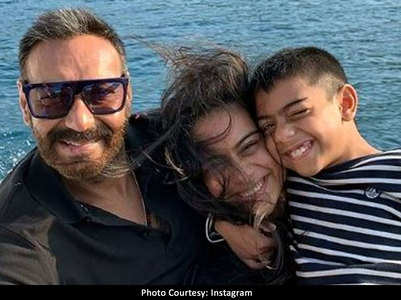Ajay-Kajol's cute birthday wish for son Yug