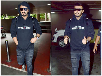 Arjun nails the all-black look at airport
