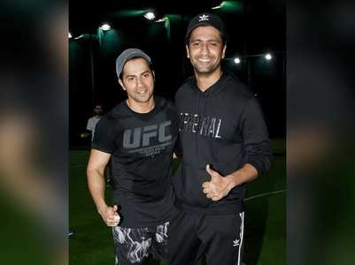 Photos: Varun - Vicky enjoy a cricket match