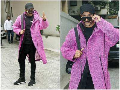 Photos: Ranveer rocks his purple jacket