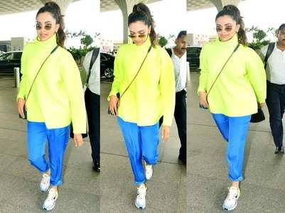 Take a look at Deepika's vibrant airport look!