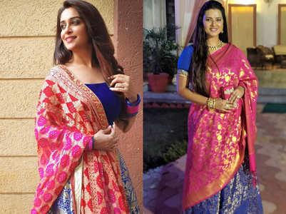 Dipika, Kratika wear similar-looking lehenga