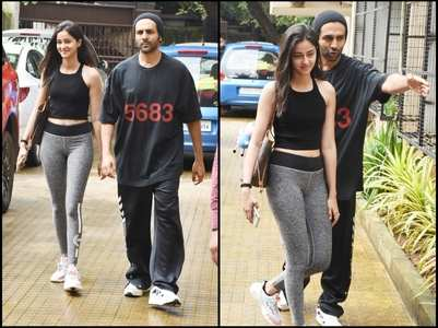 Kartik & Ananya papped post dance rehearsals