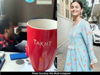 PICS: Alia-Ranveer prep for KJo's Takht'