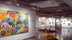 An exhibition of Bhairavi Modi's paintings opened at Archer Art Gallery