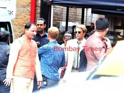 Nolan and Robert captured shooting in Mumbai