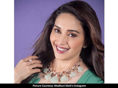 Madhuri's latest photo has a 90's vibe to it
