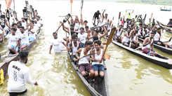 Boat race at Vellayani lake