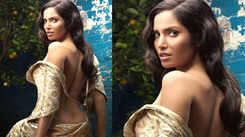 Supermodel Padma Lakshmi bares her back in ethic ensemble, sets hearts racing